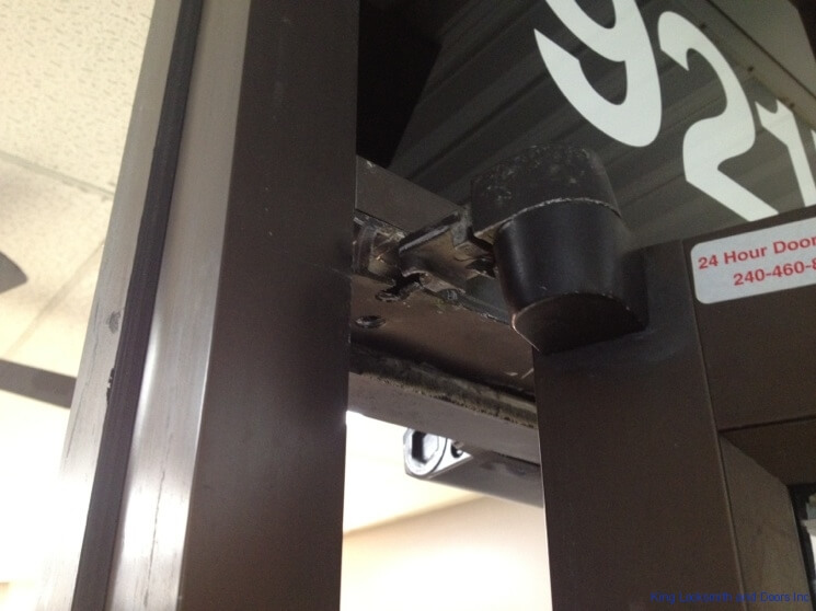 Commercial Door Hinge Repair 5
