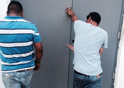 Commercial Double Steel Doors Replaced (1) & Steel Double Door Replacement - King Locksmith and Doors Inc. DC ...
