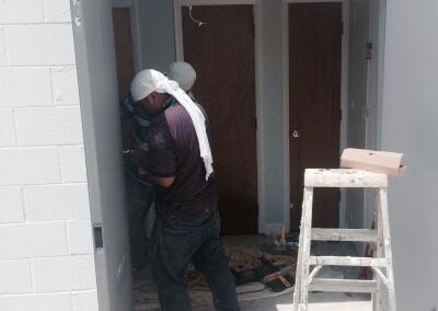 Commercial Double Steel Doors Replaced (13)