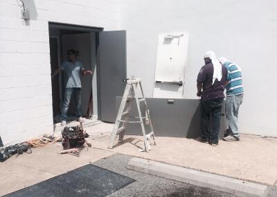 Commercial Double Steel Doors Replaced (15)