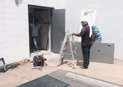 Commercial Double Steel Doors Replaced (19)