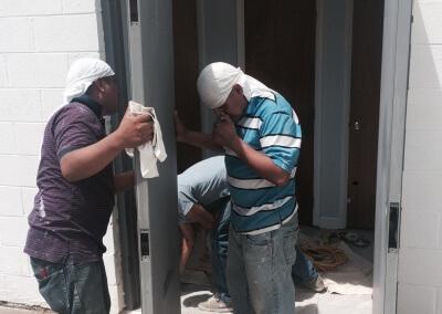 Commercial Double Steel Doors Replaced (2)