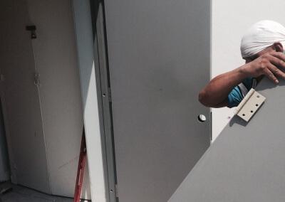 Commercial Double Steel Doors Replaced (20)