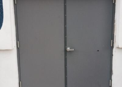Commercial Double Steel Doors Replaced (4)