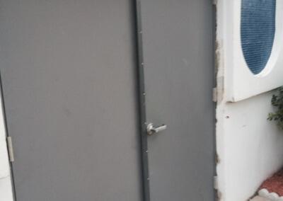 Commercial Double Steel Doors Replaced (5)