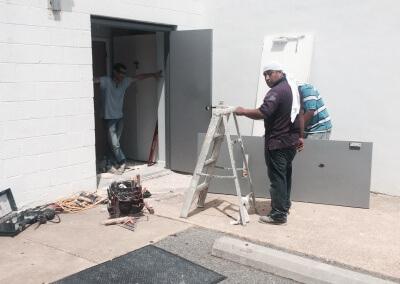 Commercial Double Steel Doors Replaced (6)