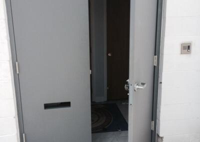 Commercial Double Steel Doors Replaced (7)
