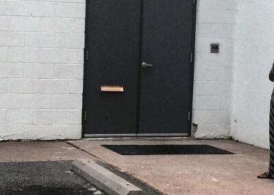 Commercial Double Steel Doors Replaced (9)