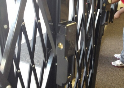 Commercial Security Gate Installed