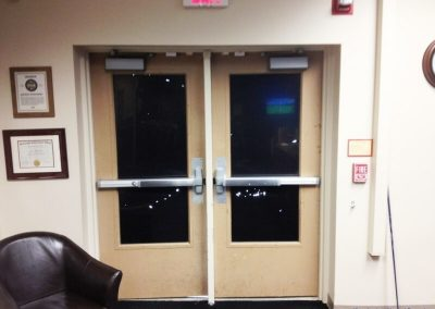 Double-Push-Bar-Doors-Installed-2
