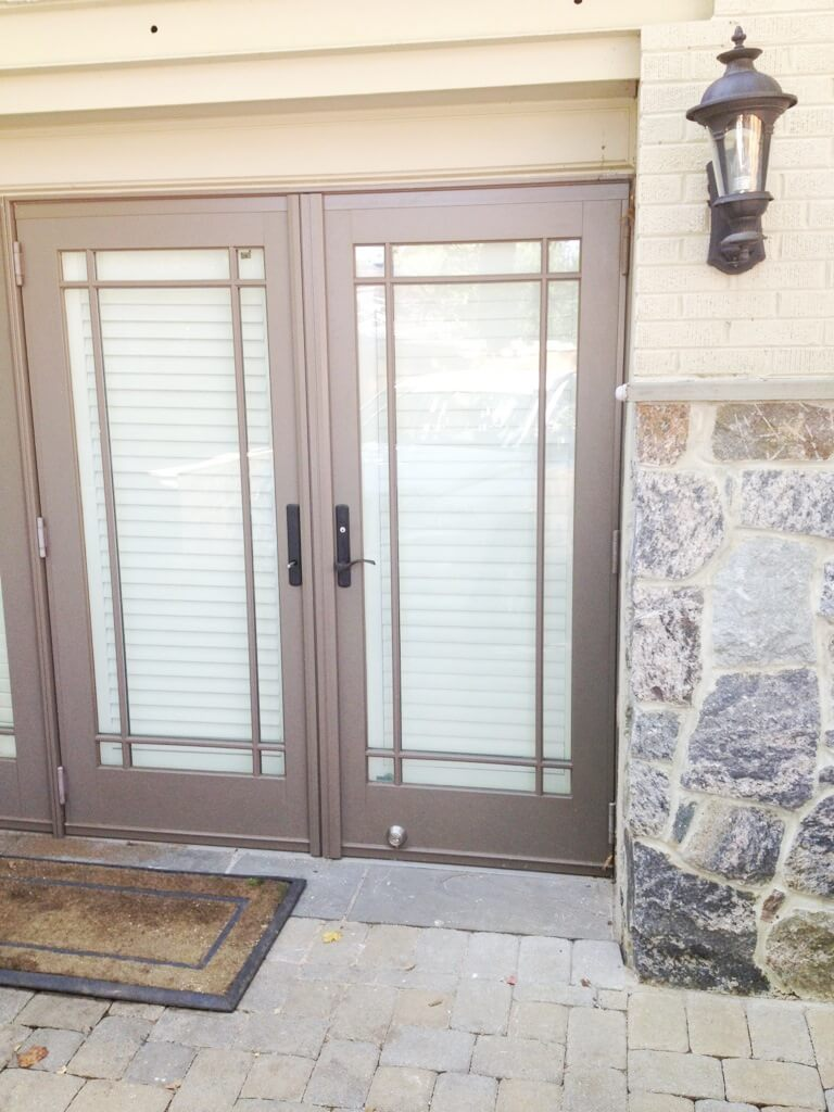 Residential door replacement king locksmith and doors for Installing french doors