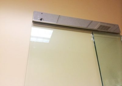 Glass Door with Magnetic Lock Replaced (1)